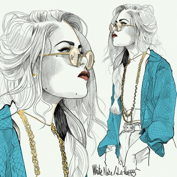 Fashion Girl Sketch Tumblr Hipster Girl Sketch Tumblr